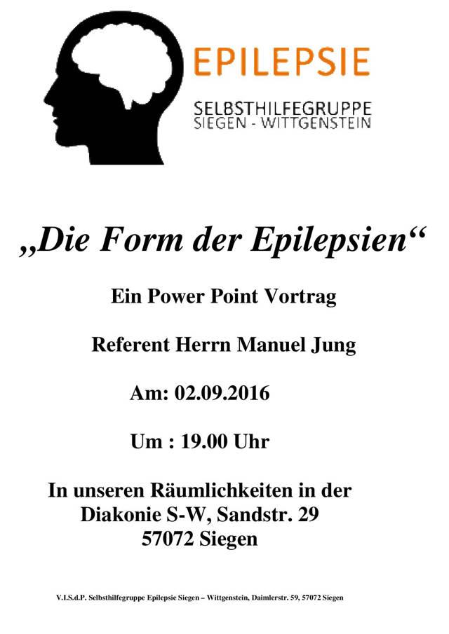 2016-08-10_Siegen_Vortrag_Die-Formen-der-Epilepsien_Flyer_Veranstalter