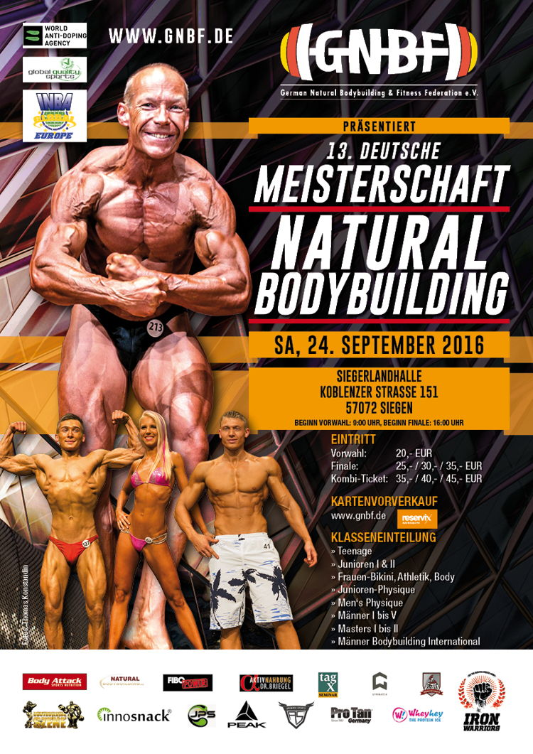 Deutsche Meisterschaft im Natural Bodybuilding (Plakat: Veranstalter)
